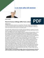 Stieg Larsson on Men Who Kill Women