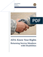 Returning Service Members With Disabilities