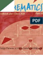 NCERT Mathematic Class XII Book - Part II