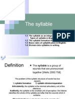 The Syllable