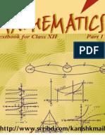 NCERT Mathematic Class XII Book - Part I