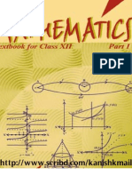 NCERT Mathematic Class XII Book - Part I