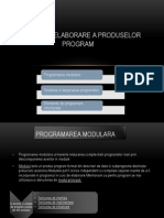 Metode de Elaborare a Produselor Program