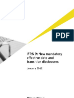 Applying IFRS 9 Mandatory Date and Transition Disclosures