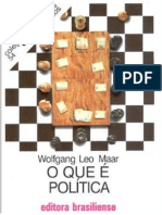 MAAR, Wolfang Leo. O que é política