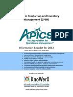 KEI APICS CPIM Information Booklet 2012.03