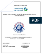 Market Evaluation of Financial Products of Standard Chartered Bank1