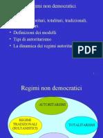 7 Regimi Non Democratici
