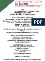 2nd BDS Dental Materials