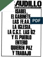 Revista El Caudillo nro. 46 a 54