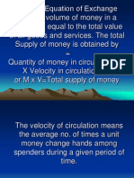 Fisher's Equation of Exchange