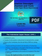 LEGISLATIVE OVERSIGHT- DPD RI