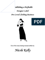Training Manual - Pre-Loved Clothing Business