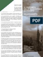 IV Certamen Valle de Esteribar 2012. Relato Corto