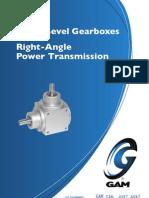 Gam 2011 Spiral Bevel Gearbox Catalog