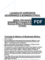 1-Basics of Corporate Governance &Business Ethics. 2003