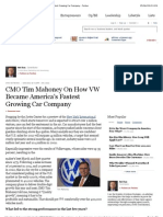 CMO Tim Mahoney on How VW Became America's Fastest Growing Car Company - Forbes