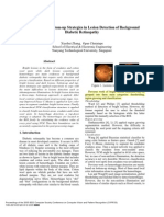 Top Down and Bottom Up Strategies in Lesion Detection of Background Diabetic Retinopathy
