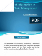 Value of Information in Supply Chain Management - Copy