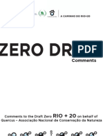 Comments to the Draft Zero RIO+20 on behalf of Quercus – ANCN