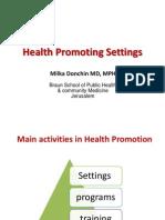 Health Promoting Settings for Moldava