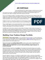 Fashion Portfolio- Notes