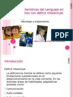Características del Lenguaje en los niños con déficit