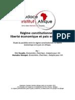 Régime constitutionnel – Liberté économique et paix en Afrique
