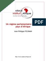 Un régime parlementaire pour les pays d'Afrique - JP Feldman