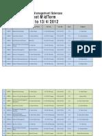 Graduate Date Sheet