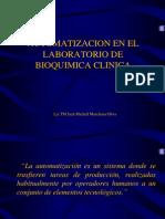 Automatizacion en El Laboratorio de Bioquimica Clinica i
