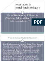 Use of Wastewater Effluent in Checking Saline Water Intrusion Into Groundwater Table