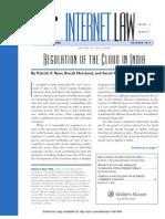 Regulation of Cloud in India