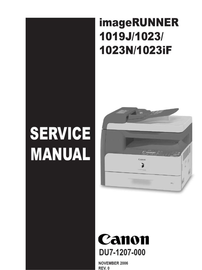 canon ir 1019j 1023 1023n 1023if service manual ing image rh scribd com Canon 1025 Toner Canon imageRUNNER 1025 User Manual