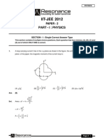 IITJEE 2012 Solutions Paper-2 Physics English