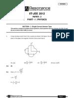 IITJEE 2012 Solutions Paper-2 Physics English