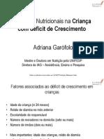 Apresentacao 1 - Cuidados Nutricionais Na Crianca Com Deficit de Crescimento
