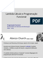 Lambda Calculo e Programacao Funcional