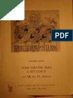 Vladimir Mošin - Stari rukopisi Srba u Hrvatskoj od XIII do XX stoljeća