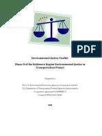 Environmental Justice Tookit - Baltimore Regional Environmental Justice in Transportation Project
