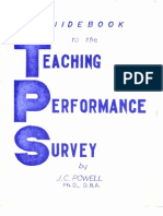 Powell (1978) Guidebook to the Teaching Performance Survey Eti