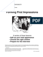 Forming First Impressions