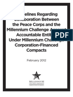 Guidelines Regarding Collaboration Between the Peace Corps and the Millennium Challenge Account Accountable Entities Under Millennium Challenge Corporation-Financed Compacts | February 2012
