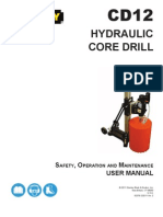 Stanley Hydraulic Tools - User Manual - CD12 - Hydraulic Core Drill