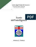 Codazzi Antonio - Teorie Dell'Intelligenza