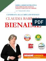Programma amministrativo coalizione Claudia Bienaimé Sindaco agg 7 4 2012