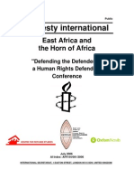 Defending the Defenders - A Human Rights Defenders Conference