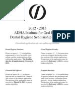 ADHA 2012-13 Scholarships