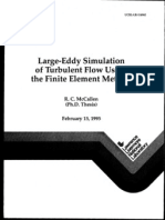 Thesis - McCallen - Large-Eddy Simulation of Turbulent Flow Using the Finite Element Method