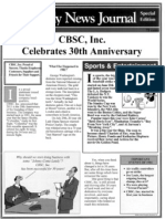 Cbsc 30th Anniversary
